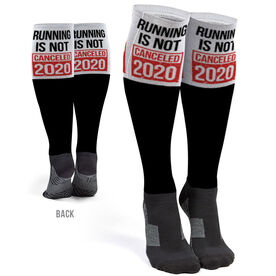 Running Printed Knee-High Socks - Running is Not Canceled 2020