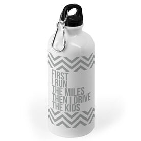 Running 20 oz. Stainless Steel Water Bottle - Then I Drive The Kids
