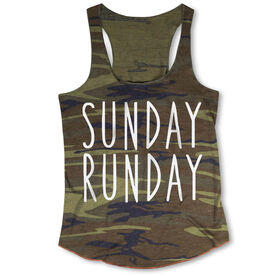 Running Camouflage Racerback Tank Top - Sunday Runday