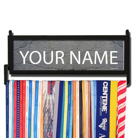 RunnersWALL Personalized Road Pattern Medal Display