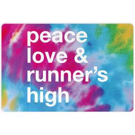 "Running 18"" X 12"" Aluminum Room Sign - Peace Love & Runner's High"
