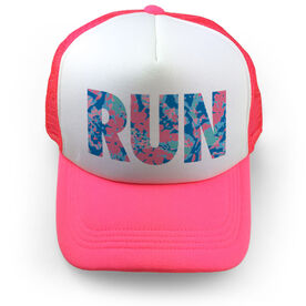 Running Trucker Hat - Run Floral