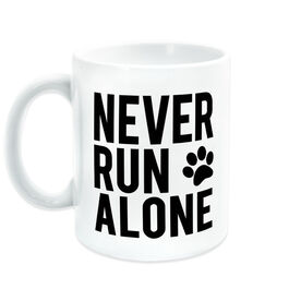 Running Coffee Mug - Never Run Alone (Bold)