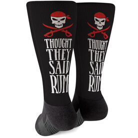 Running Printed Mid-Calf Socks - Thought They Said Rum