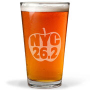 NYC 26.2 Apple 16 oz Beer Pint Glass