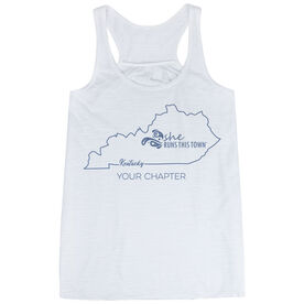 Flowy Racerback Tank Top - She Runs This Town Kentucky Runner