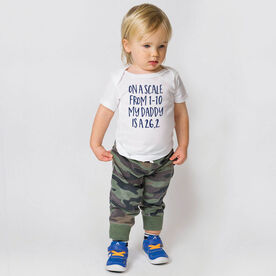 Running Baby T-Shirt - My Daddy Is A 26.2