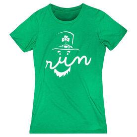 Women's Everyday Runners Tee Leprechaun Run Face
