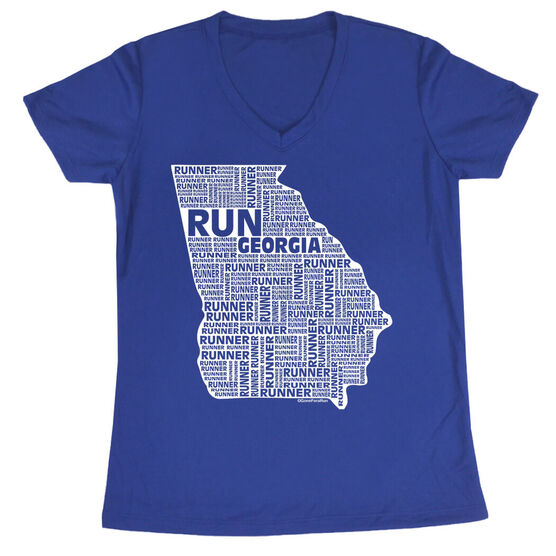 Women's Running Short Sleeve Tech Tee Georgia State Runner
