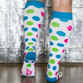 Polka Dot Compression Knee Socks