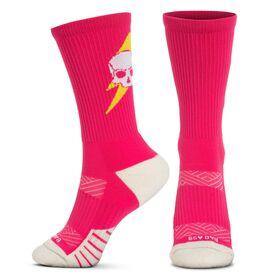 Socrates® Mid-Calf Performance Socks - Bad Ass (Pink)