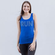 Running Women's Athletic Tank Top - Run Lines