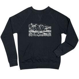 Running Raglan Crew Neck Sweatshirt - Ultra Runner Sketch