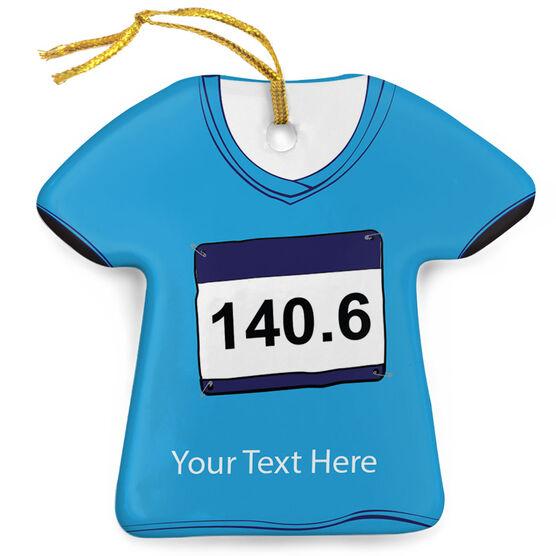 Triathlon Porcelain Ornament 140.6 Shirt