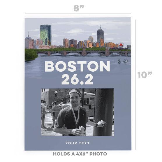 Running Photo Frame - Boston Sketch