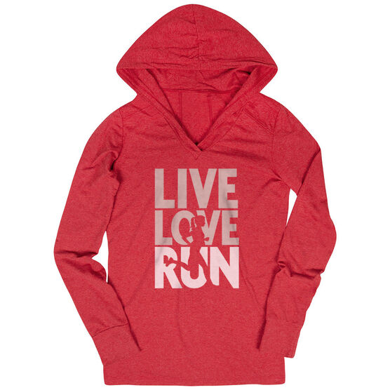 Women's Running Lightweight Performance Hoodie - Live Love Run Silhouette