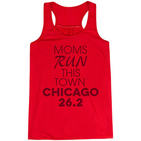 Flowy Racerback Tank Top - Moms Run This Town Chicago 26.2