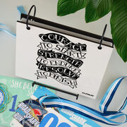 BibFOLIO® Race Bib Album - Courage to Start Tattoo