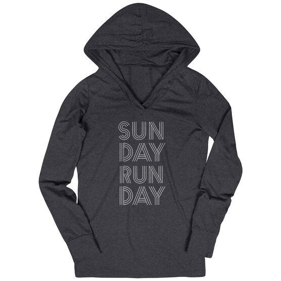 Women's Running Lightweight Performance Hoodie - Sunday Runday (Stacked)