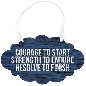 Running Cloud Sign - Courage To Start