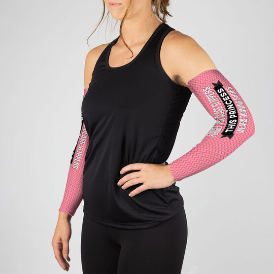 Running Printed Arm Sleeves - Forget The Glass Slippers This Princess Wears Running Shoes