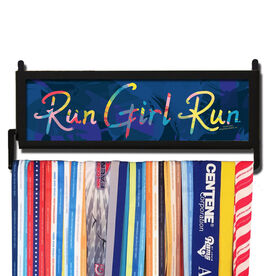 RunnersWALL Watercolor Run Girl Run Medal Display
