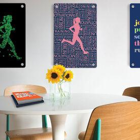 """Running 18"""" X 12"""" Wall Art - Inspirational Words Female"""