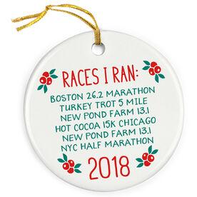 Running Porcelain Ornament - Races I Ran