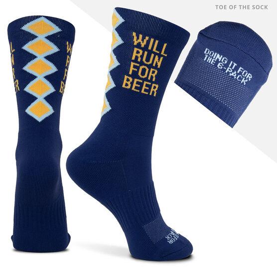 Socrates® Mid-Calf Socks - Run For Beer