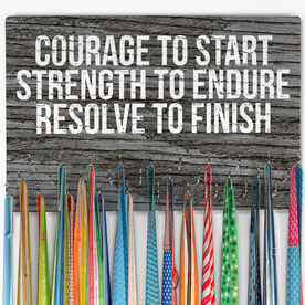 Running Large Hooked on Medals Hanger - Courage To Start