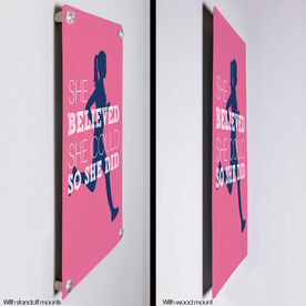 """Running 18"""" X 12"""" Wall Art - She Believed She Could So She Did (Silhouette)"""