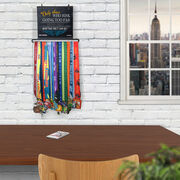 BibFOLIO+™ Race Bib and Medal Display Chalkboard Only Those Who Risk