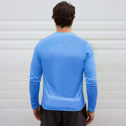 Men's Running Long Sleeve Tech Tee - Life's Short Run Long (Mountains)