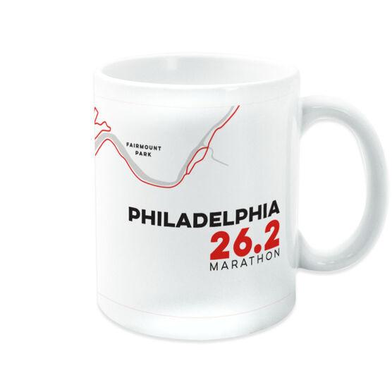 Running Coffee Mug - Philadelphia 26.2 Route