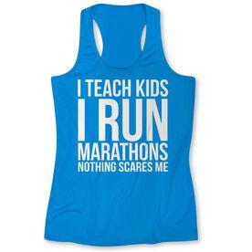 Women's Performance Tank Top - I Teach Kids I Run Marathons