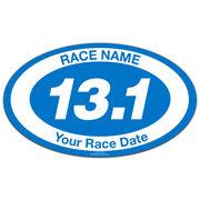 Custom Race 13.1 Oval Car Magnet