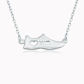Livia Collection Sterling Silver Love to Run Shoe Necklace