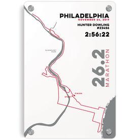 """Running 18"""" X 12"""" Aluminum Room Sign - Philadelphia 26.2 Route"""