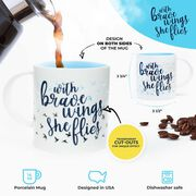 Soleil Home™ Porcelain Mug - With Brave Wings She Flies