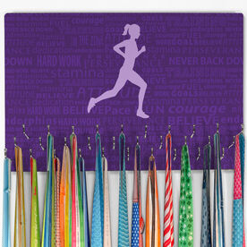 Running Large Hooked on Medals Hanger - Inspiration Female