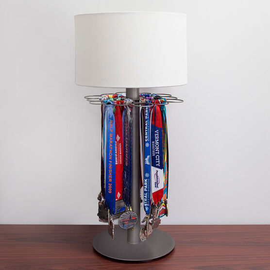 Tabletop Race Medal Display Lamp – Gone For a Run on