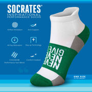 Socrates® Woven Performance Socks Never Never Give Up