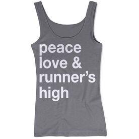 Women's Athletic Tank Top - Peace Love & Runner's High