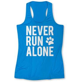 Women's Performance Tank Top - Never Run Alone (Bold)
