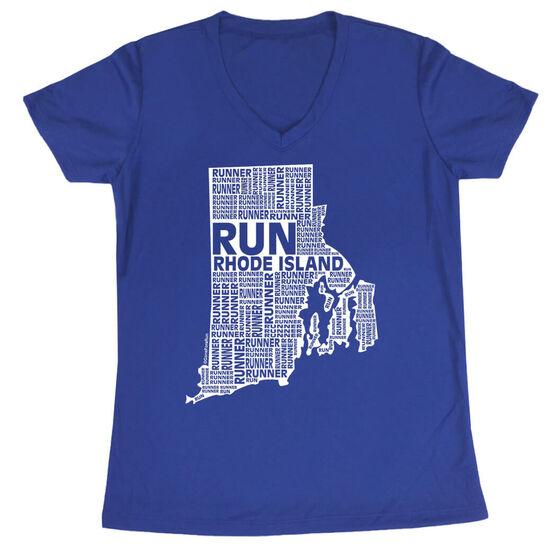 Women's Running Short Sleeve Tech Tee Rhode Island State Runner
