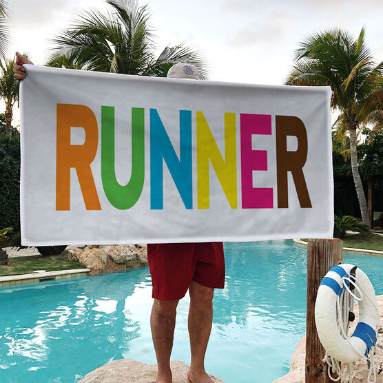 Running Premium Beach Towel - Runner Colorful