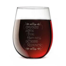 Stemless Wine Glass Mother Runner