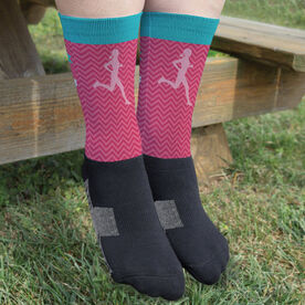 Running Printed Mid-Calf Socks - Forget The Glass Slippers