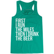 Flowy Racerback Tank Top - Then I Drink The Beer