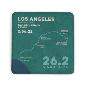 Running Stone Coaster - Los Angeles 26.2 Route